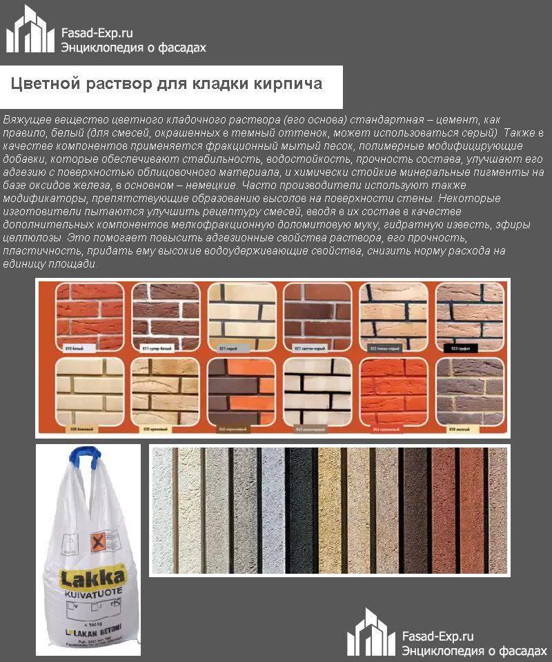 Краситель для бетона, цементного раствора и кирпичной кладки: виды и характеристики