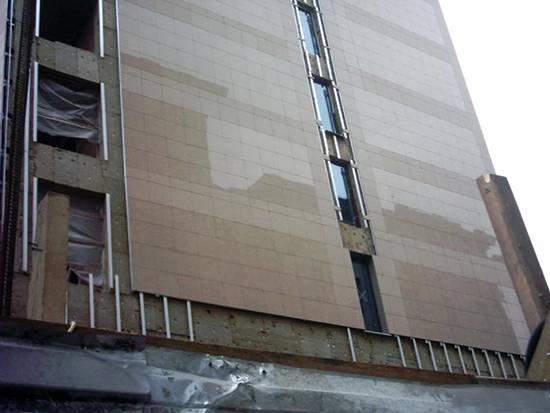 Вентилируемый фасад из керамогранита: технология монтажа