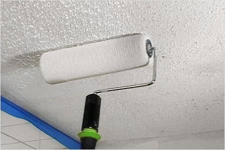 Каким валиком лучше красить потолок водоэмульсионной краской – выбор валика, правила покраски потолка