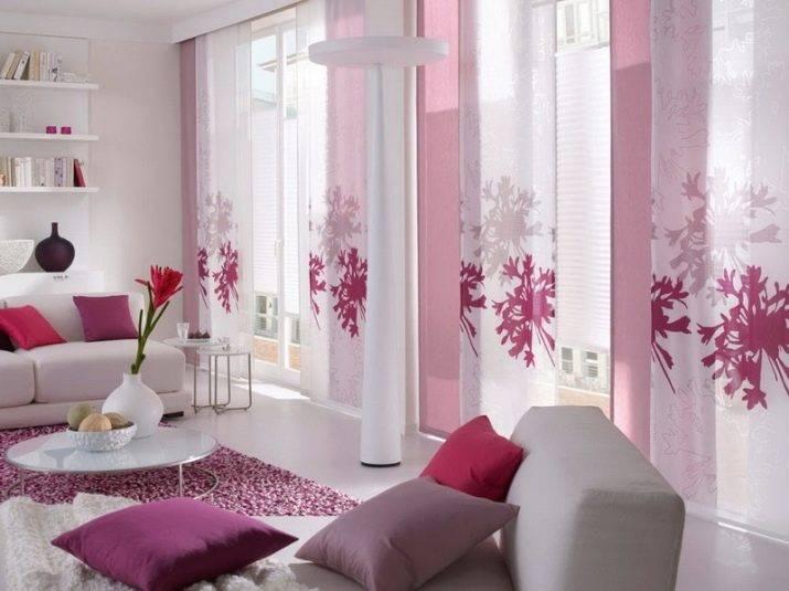 Сладкие розовые шторы: 45+ фото вариантов оформления