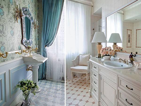 Ванная комната в стиле прованс (фото) – выбор мебели и плитки для интерьера