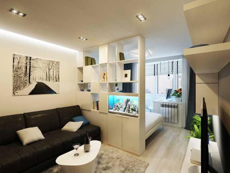 Интересный дизайн зала 18 м кв. в квартире: фото и примеры