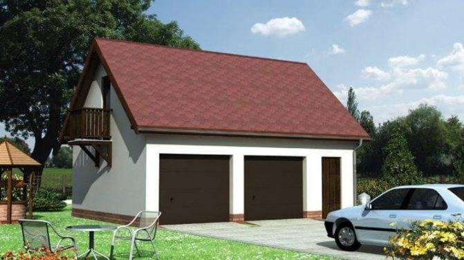 Гараж с мансардой (78 фото): красивый проект гаража на 2 машины с мастерской и баней, планировка жилой комнаты