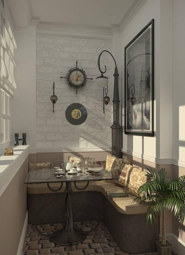 Дизайн балкона в квартире - варианты оформления лоджии, в том числе переходного типа, утепление и отделка помещения, выбор мебели и шкафов, предметы декора и идеи интерьера + фото