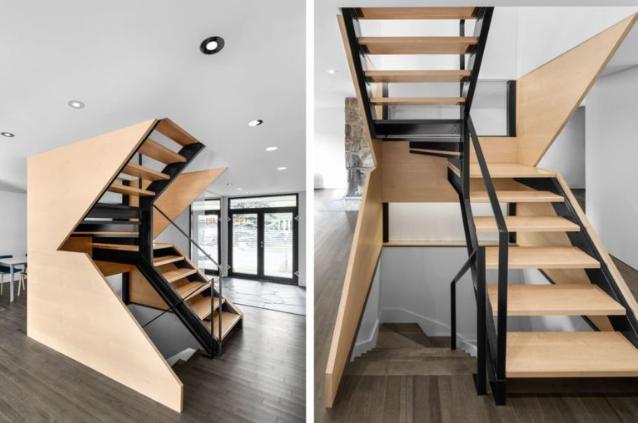 Компактная лестница на второй этаж: варианты для маленьких домов