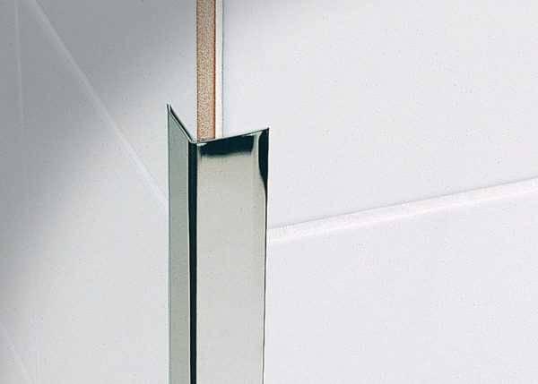 Уголок для плитки: наружный или внутренний (пластиковый или металлический).