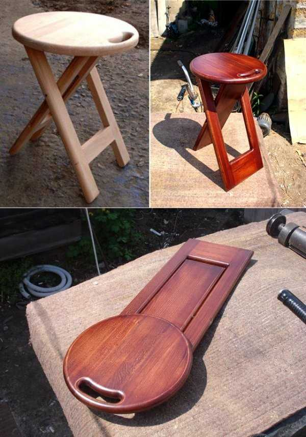 Как сделать табуретку из дерева своими руками: чертежи и схемы, инструменты и материалы, складная конструкция, варианты чехлов