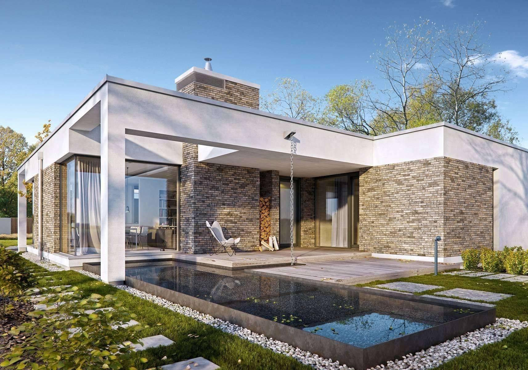 Дома с плоской крышей: 75 фото проектов и лучших современных идей