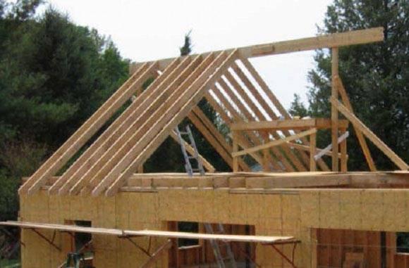 Двускатная крыша дома: пошаговое строительство своими руками