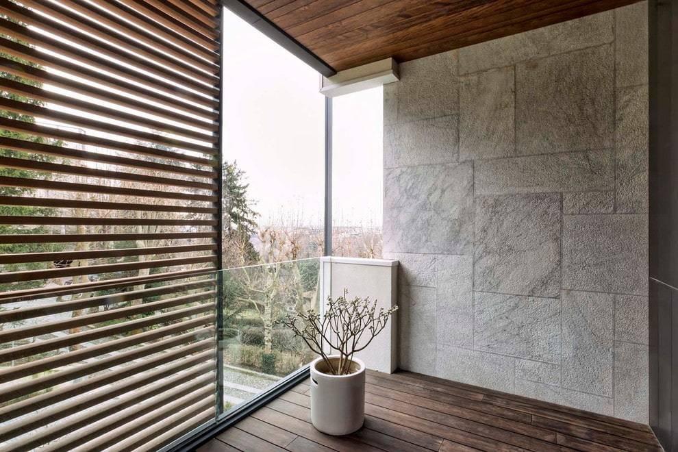 Отделка балкона декоративным камнем - пошаговая инструкция по облицовке стен