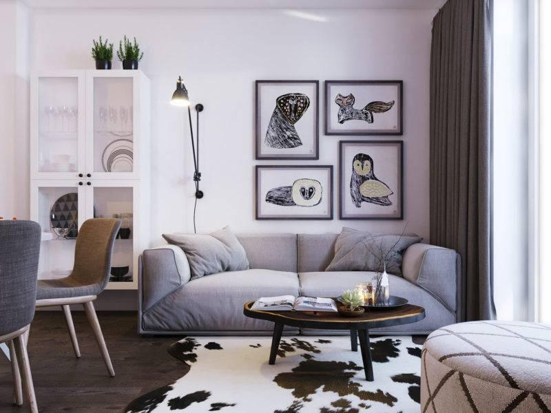 Гостиная в скандинавском стиле: особенности, реальные фото в интерьере