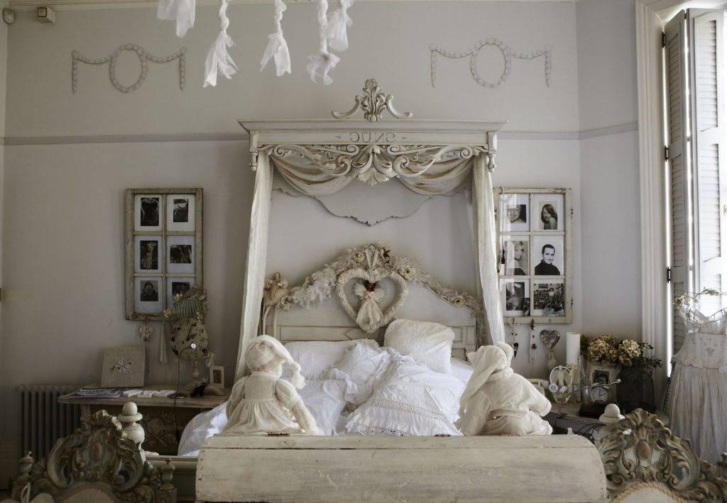 Спальня в стиле шебби шик: 5 доминирующих цветов