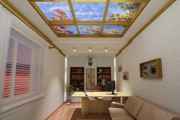 Фальш-окно с подсветкой в интерьере ванной, как сделать фальшивый оконный проем на потолке