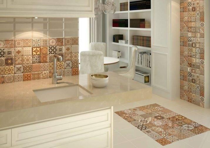Плитка для кухни на фартук: как выбрать её дизайн и размеры (фото)