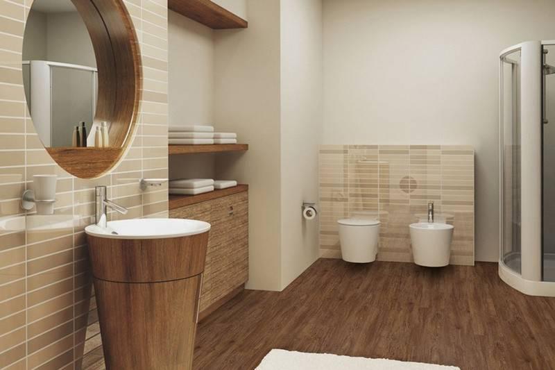 Линолеум в ванной - выбор материала, способы укладки - пошагово