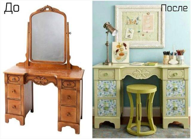 Декор старого стола своими руками - 14 легких идей (фото)