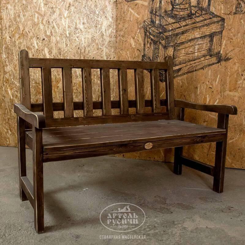 Садовая скамейка со спинкой своими руками: чертежи, размеры