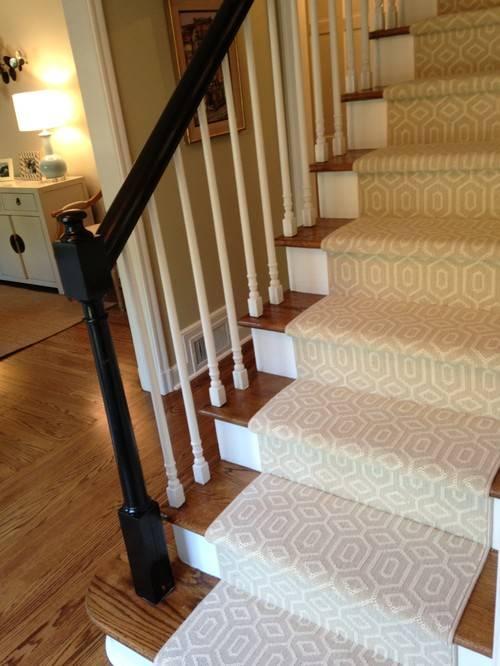 Лестница с ковролином: накладки на ступени, как обшить