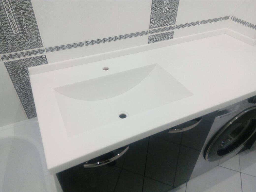 Столешница в ванную комнату под раковину своими руками – инструкция и видео