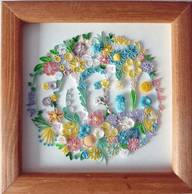 Картина в технике квиллинг (цветы): мастер-класс с фото | дом мечты