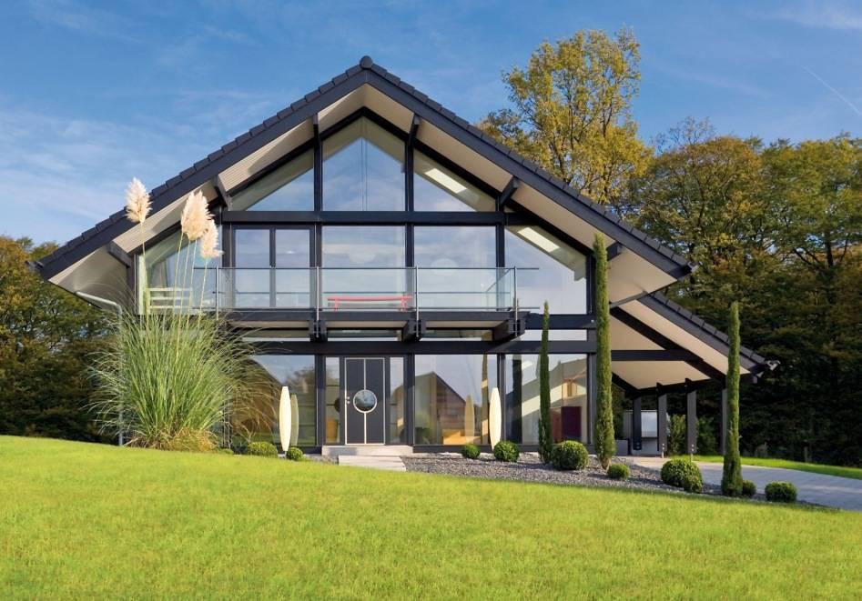 Самые красивые дома, проекты коттеджей с планом, большие шикарные загородные дома со всех сторон  - 35 фото