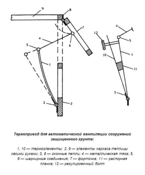 Автомат для проветривания теплицы (35 фото): плюсы автоматического проветривателя и устройство системы вентиляции
