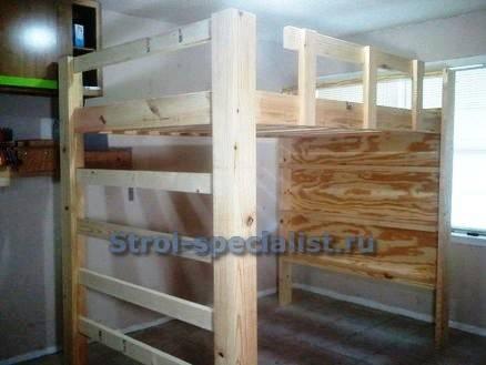 Конструктивные особенности кроватей чердаков со столом и шкафом, расположение элементов