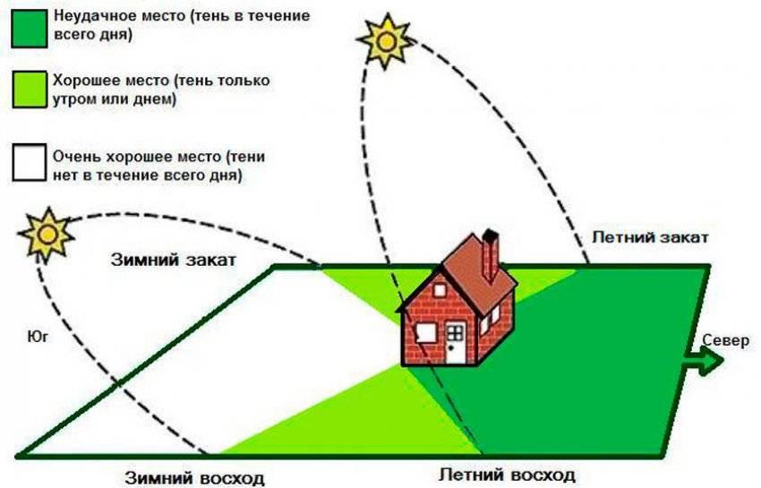 Правила расположения теплицы по сторонам света