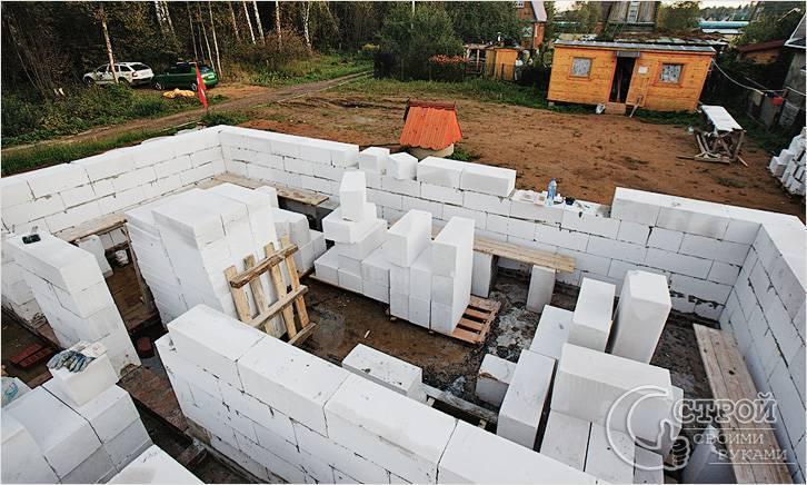 Дом из газобетона своими руками, отзывы строительства