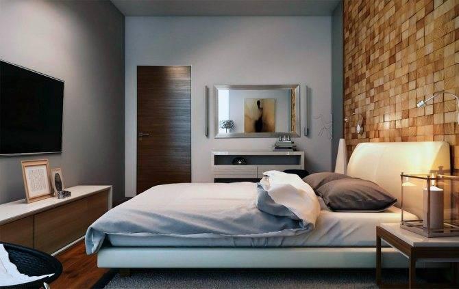 На какой высоте вешать телевизор на стену в спальне