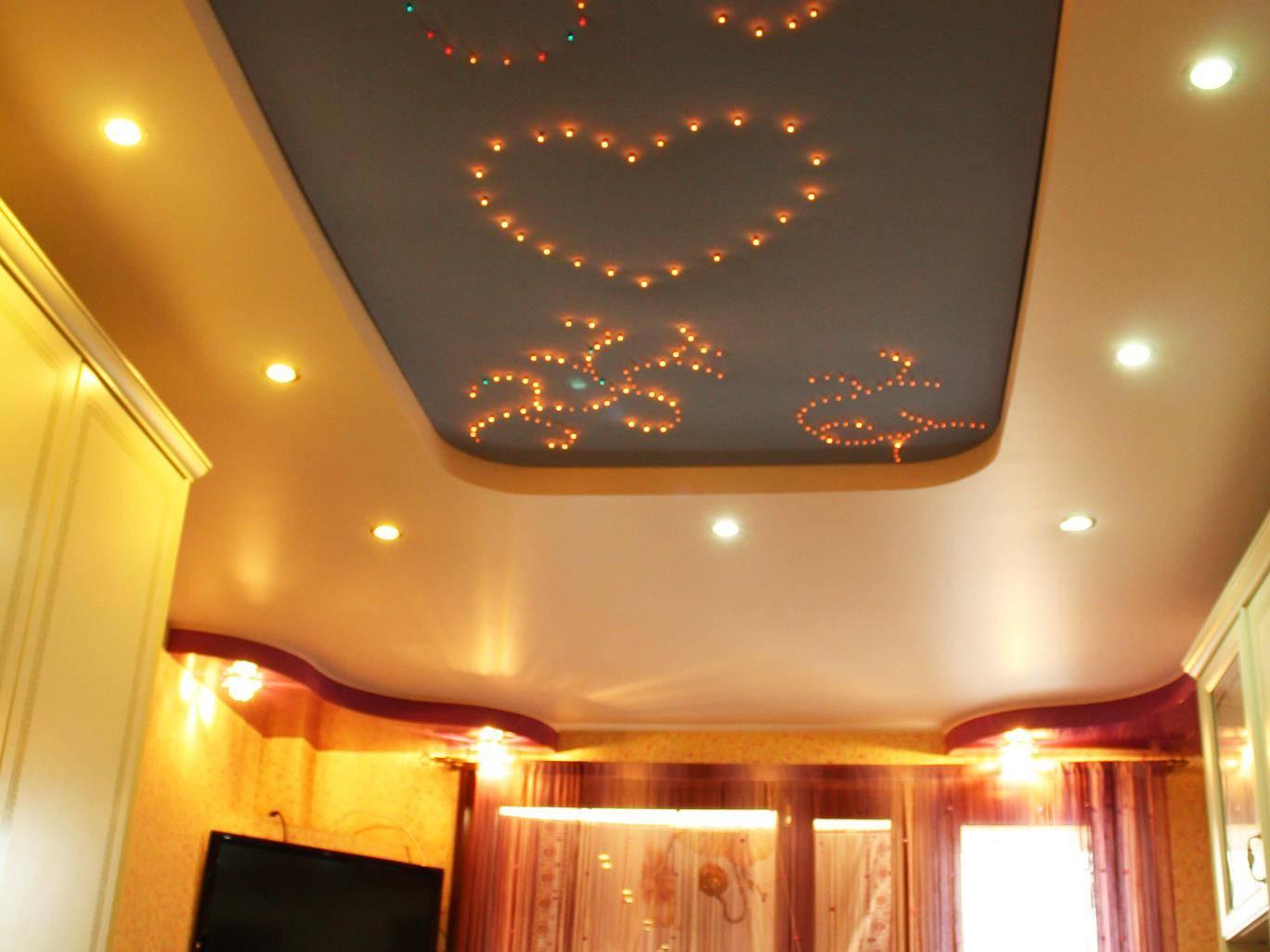 Как натянуть натяжные потолки – технология монтажа потолка и светильников
