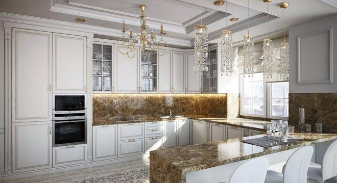 Особенности дизайна кухни в классическом стиле и в духе неоклассики