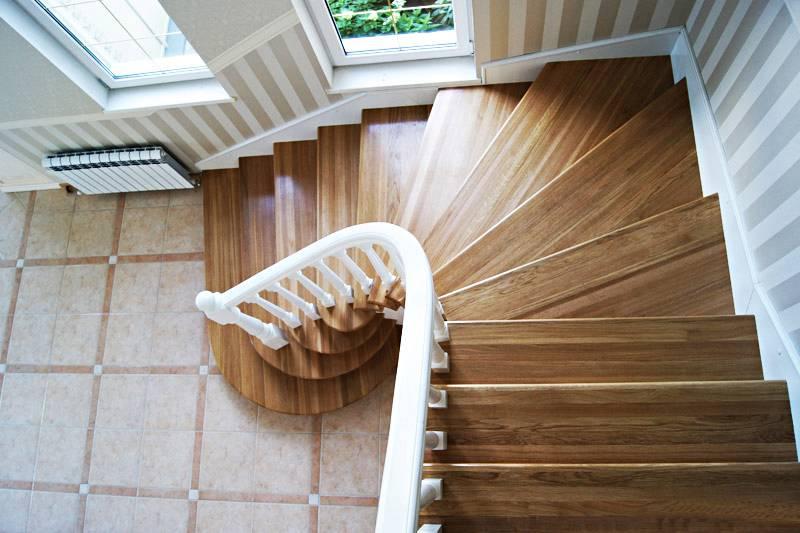 Лестница из дерева с забежными ступенями: расчет и изготовление