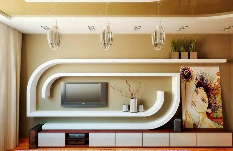 Удобно и функционально: ниша из гипсокартона под телевизор своими руками