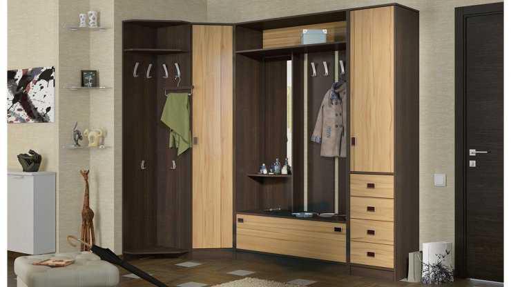 Угловой шкаф в прихожую: встроенные купе, вместительный в коридор, маленький и наибольший уголок, какие размеры и дизайн, малый и узкий