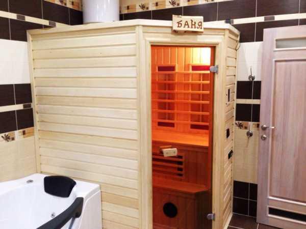 Сауна в квартире (79 фото): инфракрасная домашняя мини-кабина, проекты для дома в ванной комнате