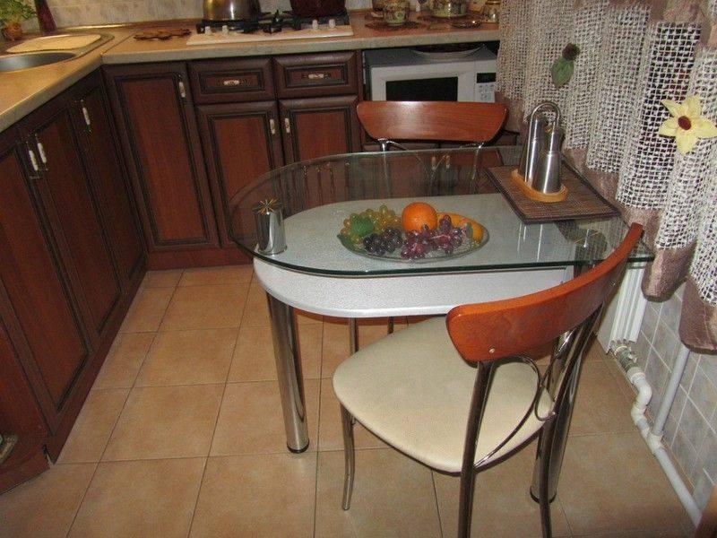 Стол для маленькой кухни: фото с описанием моделей