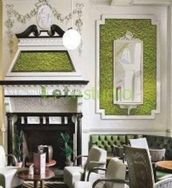 Зеленый мох на стенах – новый тренд в декорировании помещений