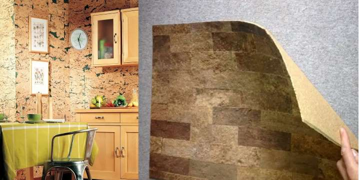 Пробковые обои (46 фото): идеи настенных покрытий «под пробку» в интерьере, характеристика свойств пробкового дерева, плюсы и минусы материала в рулонах для стен
