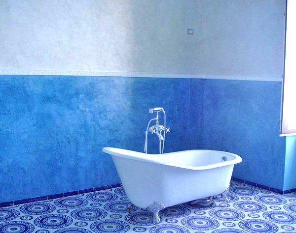 Краска для ванны, виды и выбор цвета - фото примеров