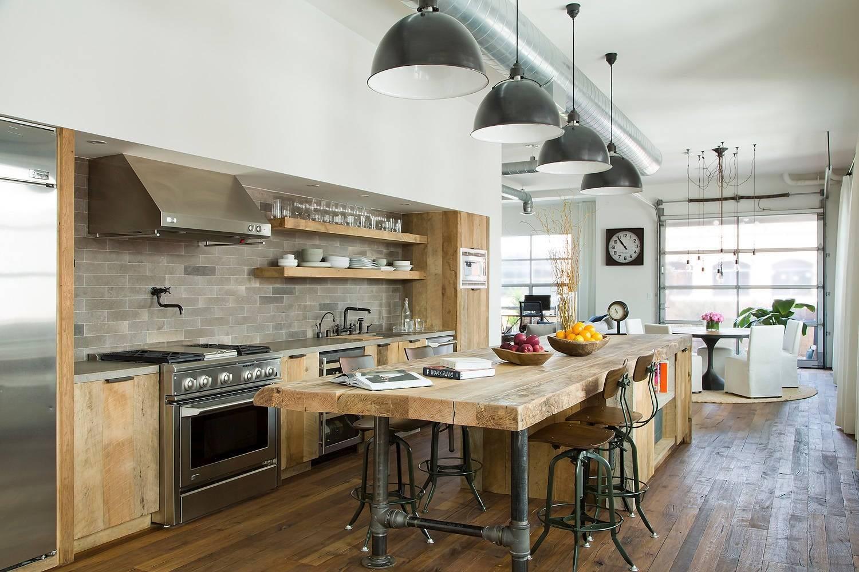 Деревянная кухня из массива в современном стиле: 135 фото-идей мебели, отделки и декора