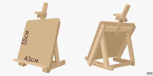 Мастер-класс по созданию мольберта для рисования из подручных материалов