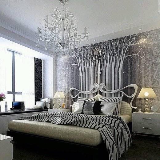 Интересное и оригинальное оформление спальни в стиле модерн