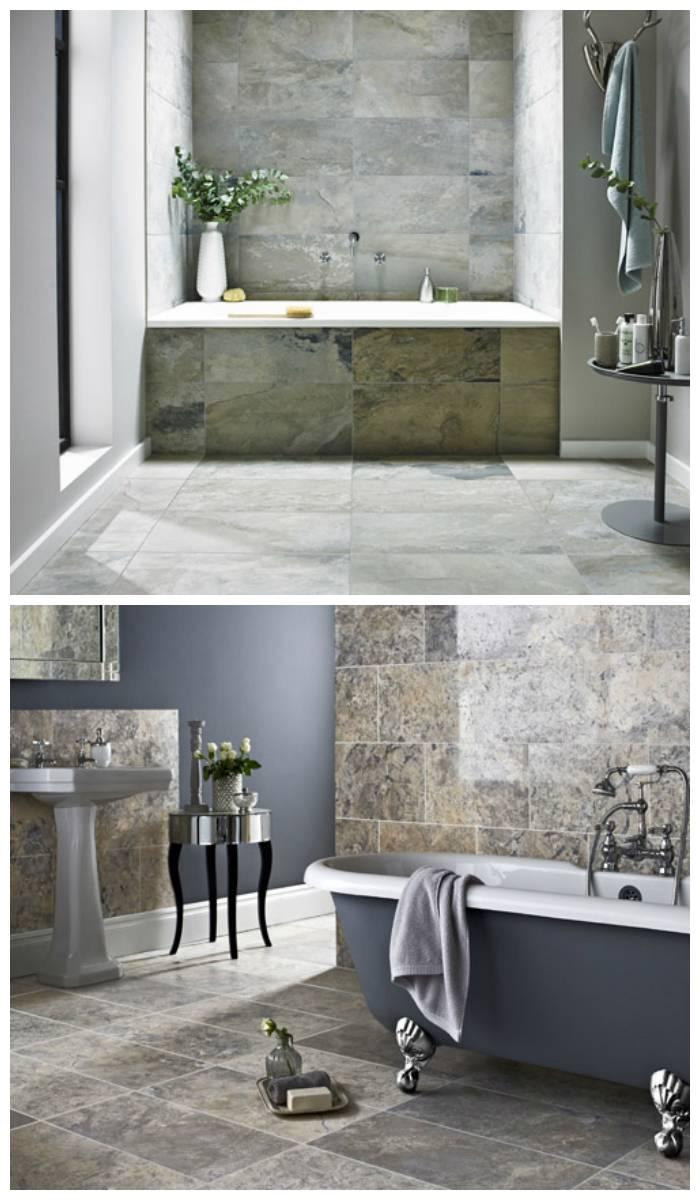 Керамогранит - плитка для ванной комнаты (+фото): тренды 2020, укладка на пол и стены, чем чистить