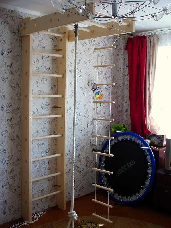 Шведская стенка для детей в квартиру: изготовление своими руками