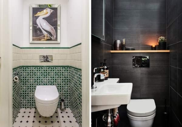 Обои в туалет (43 фото): какие лучше поклеить в маленький туалет, жидкие обои, дизайн под плитку, примеры в интерьере квартиры