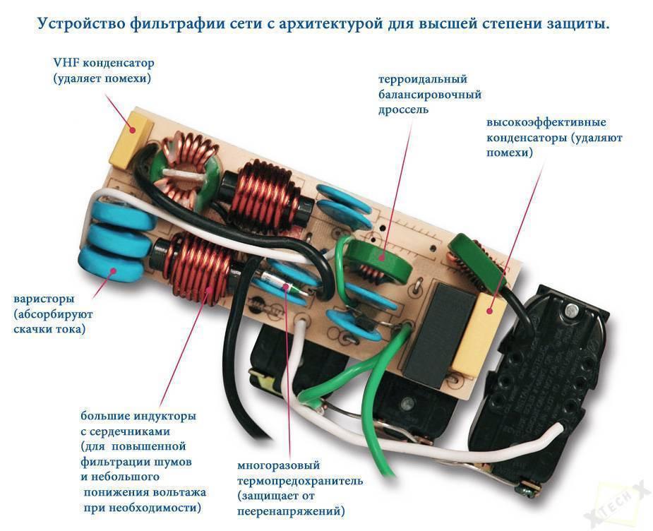 Сетевой фильтр своими руками схема 220в