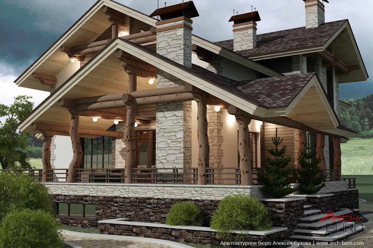 Комбинированный дом шале комфорт