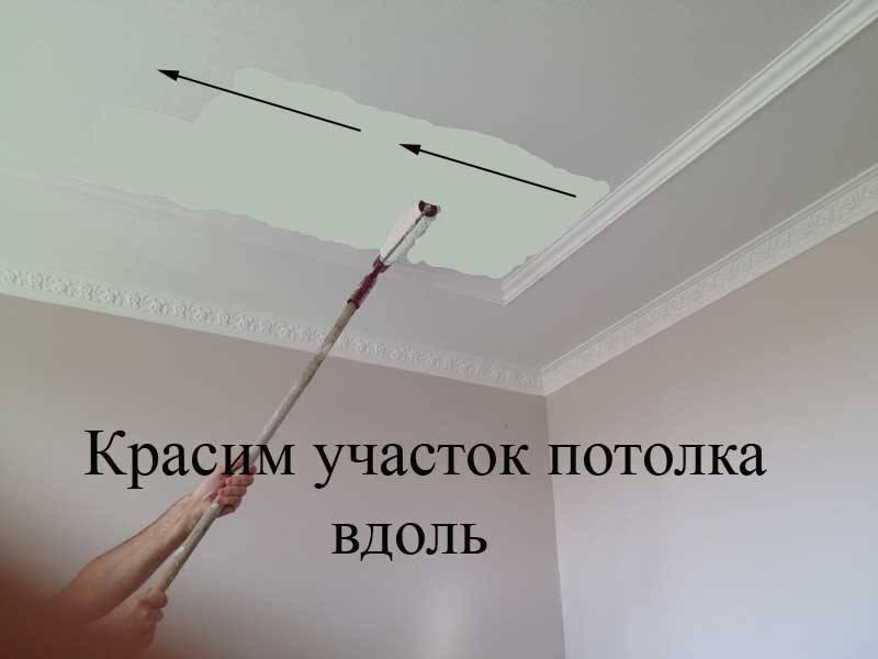 Как покрасить потолок и стены без разводов - этапы работ