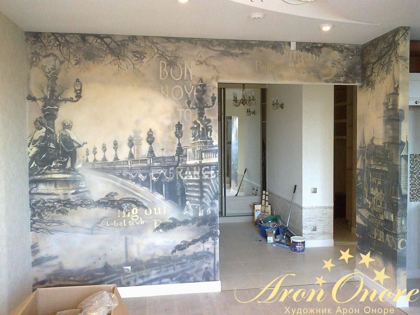 Фреска на стену: 150+ (фото) как выглядит в интерьере?